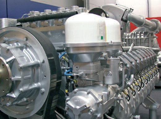 Two Mann Centrifuges fitted to an engine