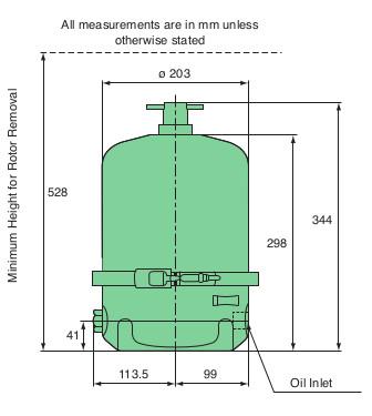 Mann FM200 Centrifuge Dimensions